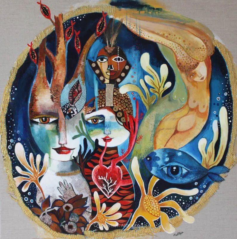 """""""睁一只眼闭一只眼"""",法国女艺术家Laure Ketfa作品选插图11"""