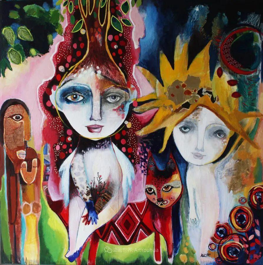 """""""睁一只眼闭一只眼"""",法国女艺术家Laure Ketfa作品选插图12"""