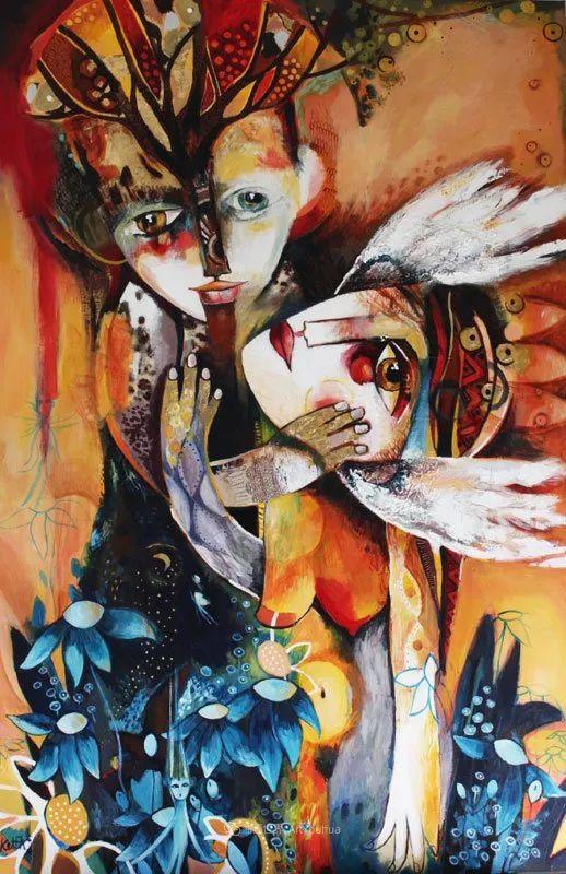 """""""睁一只眼闭一只眼"""",法国女艺术家Laure Ketfa作品选插图14"""