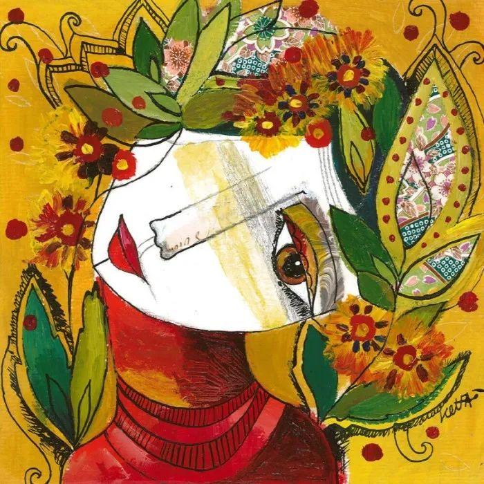 """""""睁一只眼闭一只眼"""",法国女艺术家Laure Ketfa作品选插图27"""