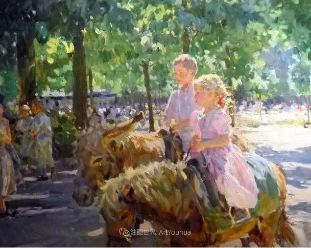 色彩热烈,笔触挥洒奔放!俄罗斯印象派画家尤里·克罗托夫作品选插图32