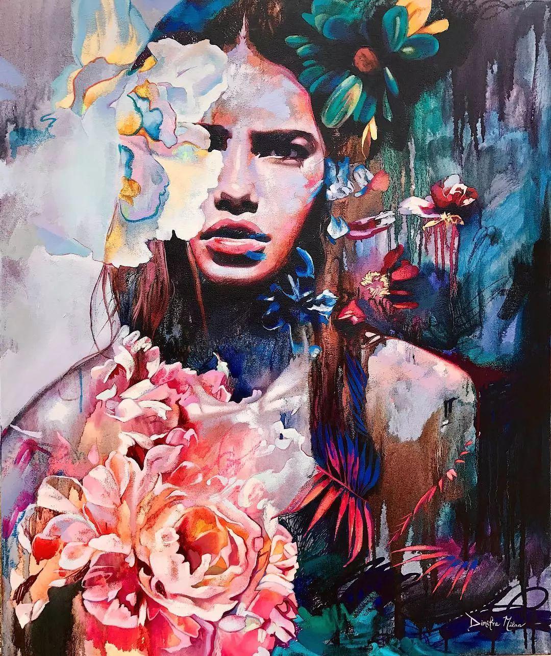 她没上过美院,画作却被世界各地的收藏家争相收藏,16岁卖画赚100万插图