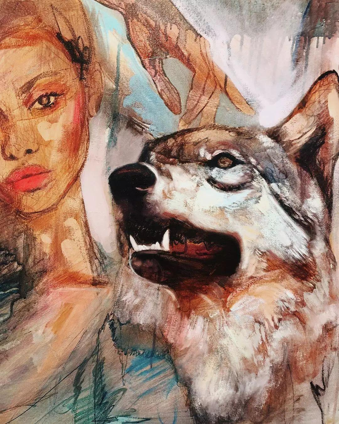 她没上过美院,画作却被世界各地的收藏家争相收藏,16岁卖画赚100万插图7