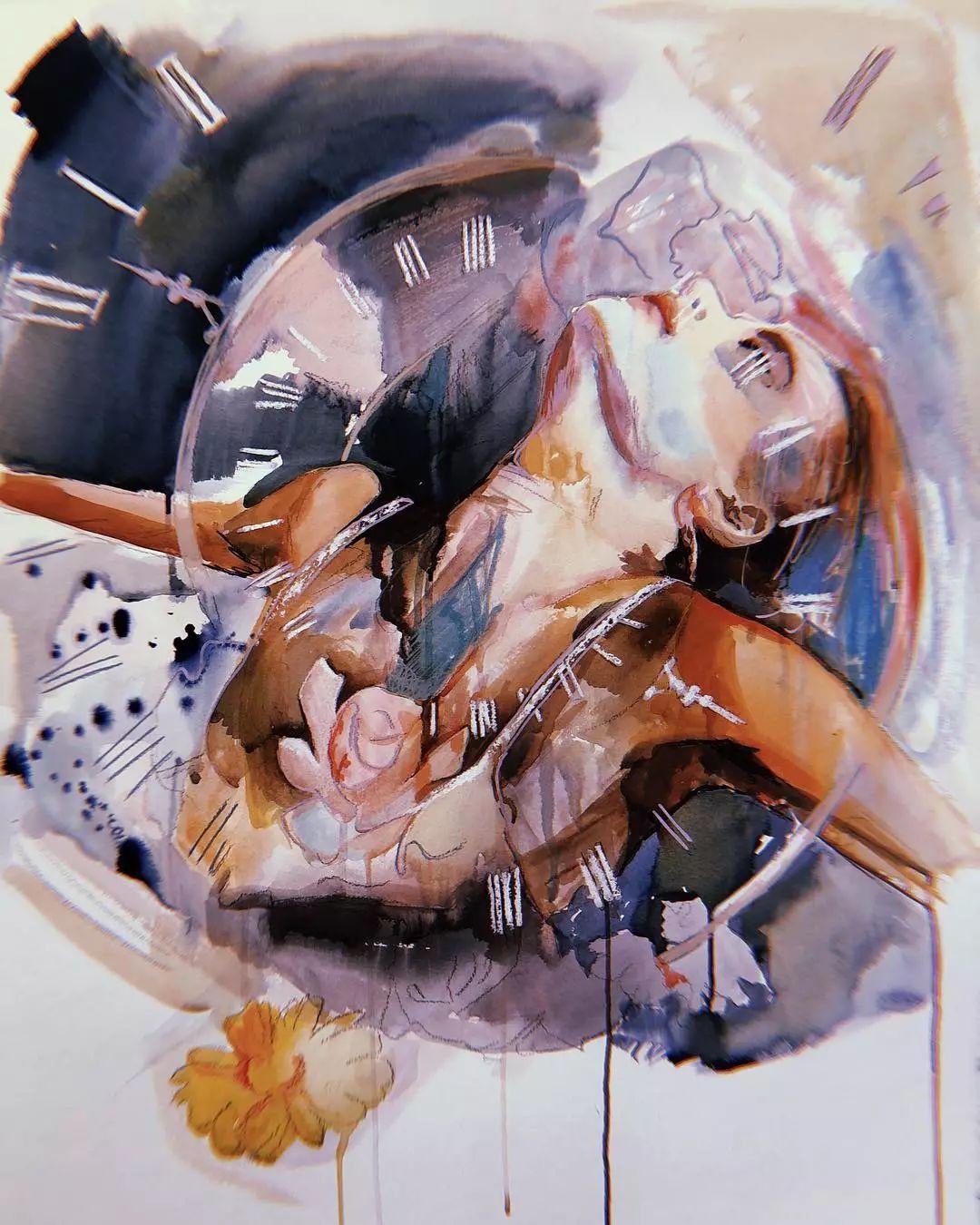 她没上过美院,画作却被世界各地的收藏家争相收藏,16岁卖画赚100万插图12