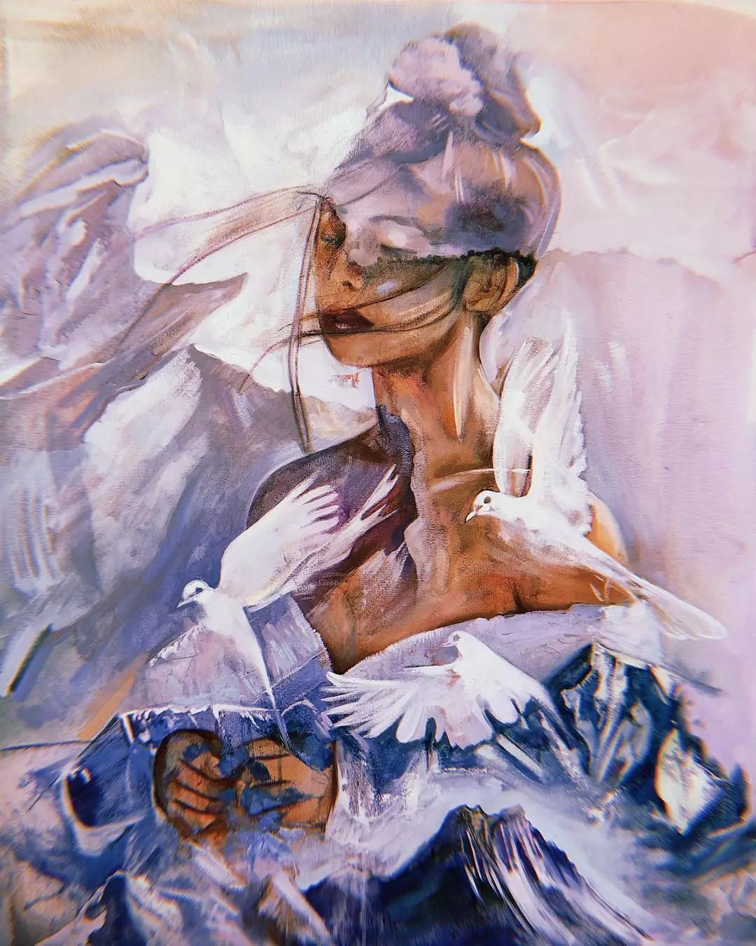 她没上过美院,画作却被世界各地的收藏家争相收藏,16岁卖画赚100万插图13