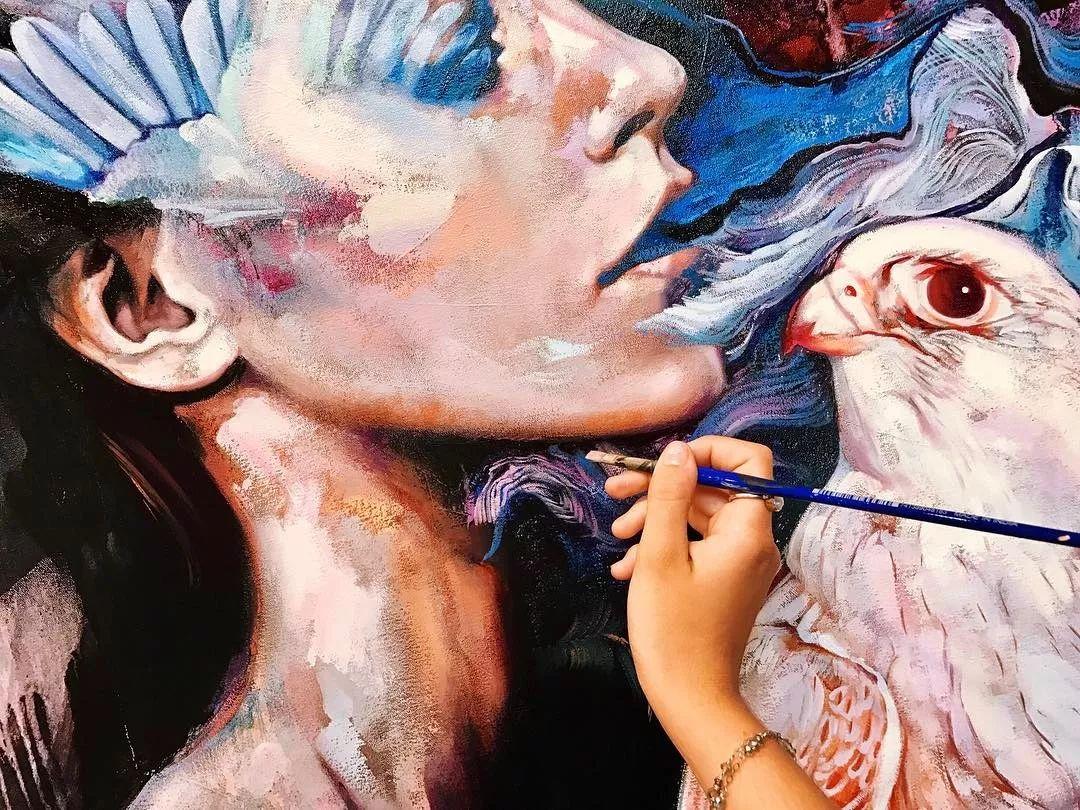 她没上过美院,画作却被世界各地的收藏家争相收藏,16岁卖画赚100万插图26