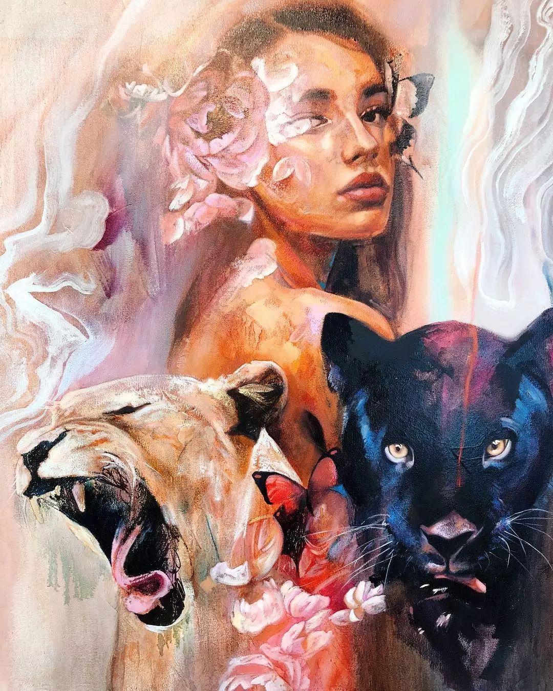 她没上过美院,画作却被世界各地的收藏家争相收藏,16岁卖画赚100万插图31