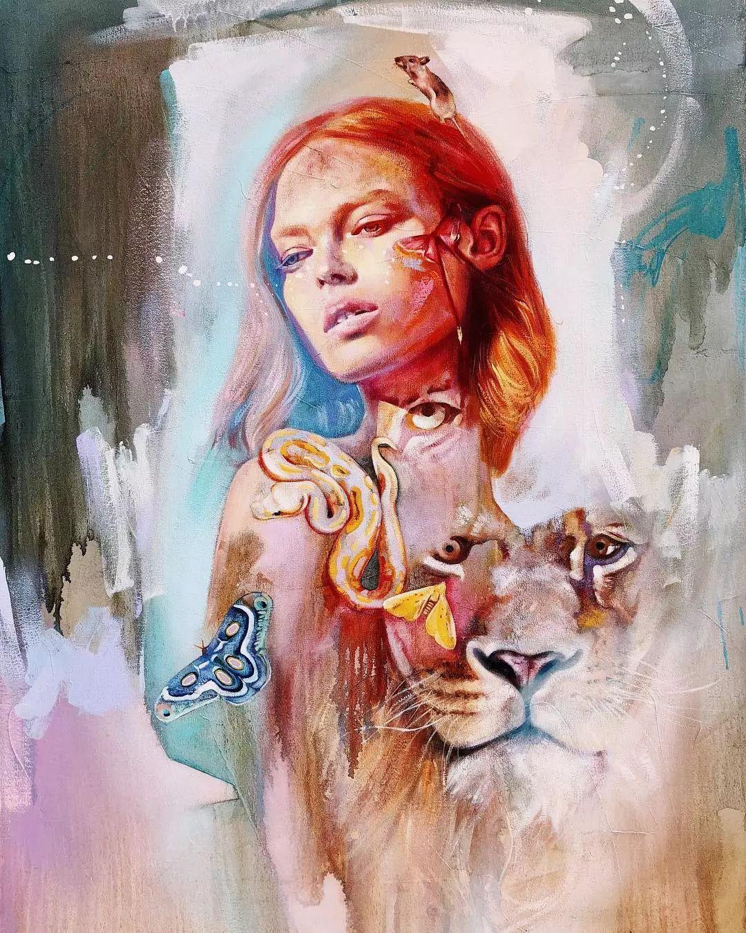 她没上过美院,画作却被世界各地的收藏家争相收藏,16岁卖画赚100万插图32