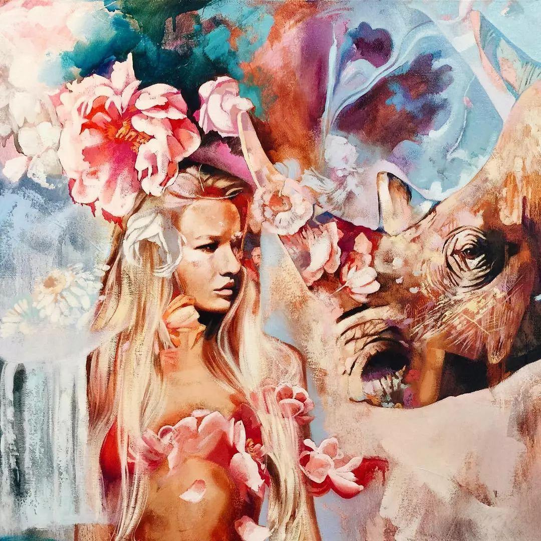 她没上过美院,画作却被世界各地的收藏家争相收藏,16岁卖画赚100万插图34