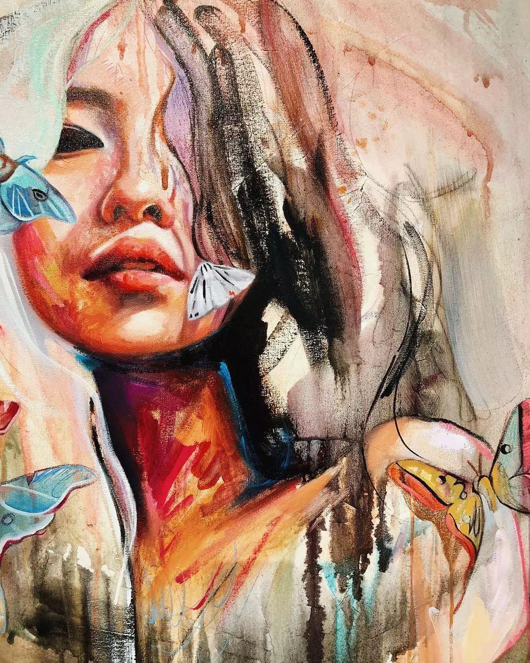 她没上过美院,画作却被世界各地的收藏家争相收藏,16岁卖画赚100万插图35