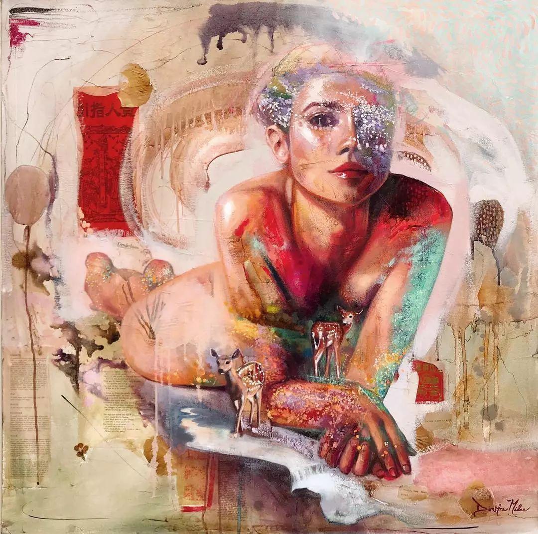 她没上过美院,画作却被世界各地的收藏家争相收藏,16岁卖画赚100万插图38