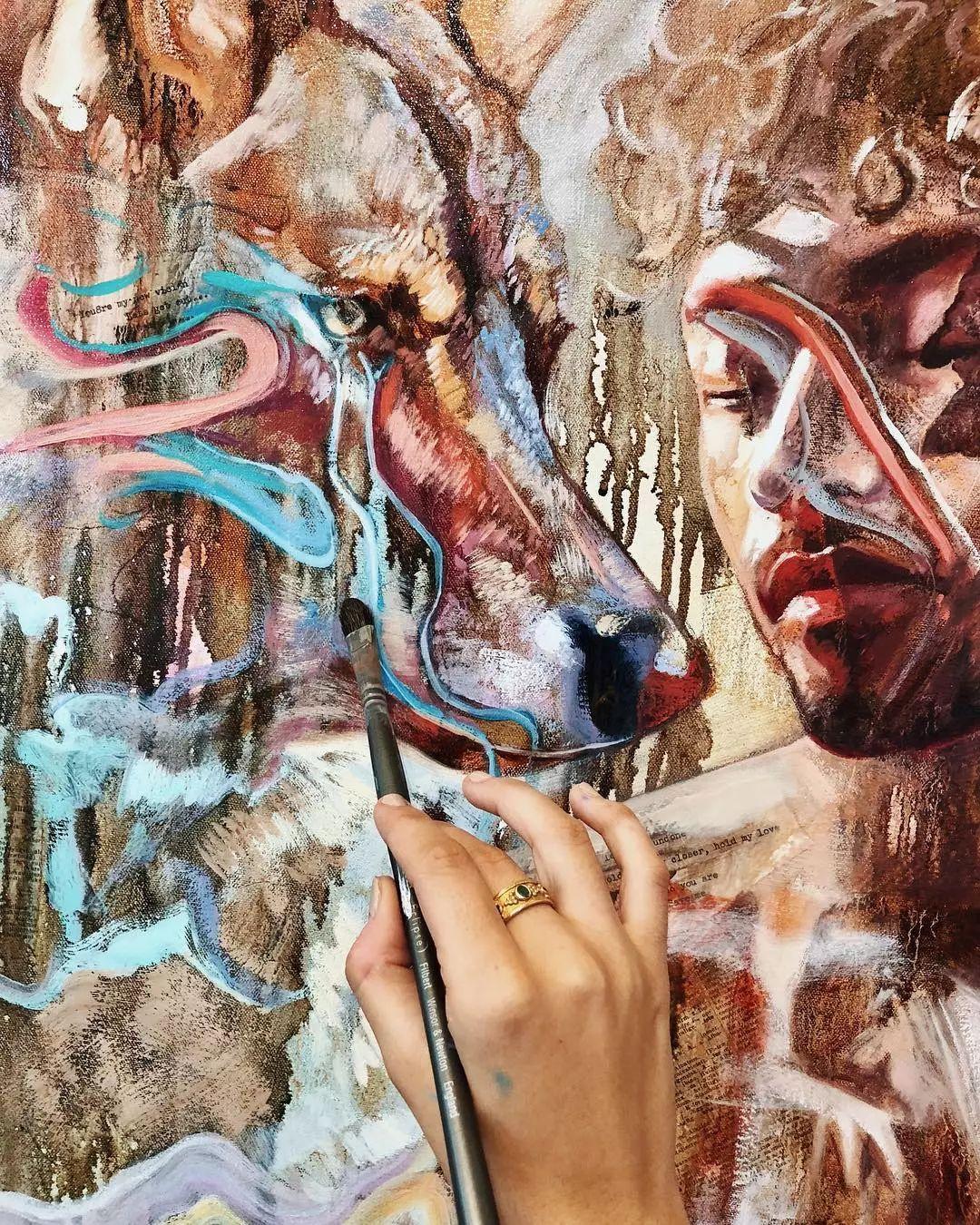 她没上过美院,画作却被世界各地的收藏家争相收藏,16岁卖画赚100万插图39