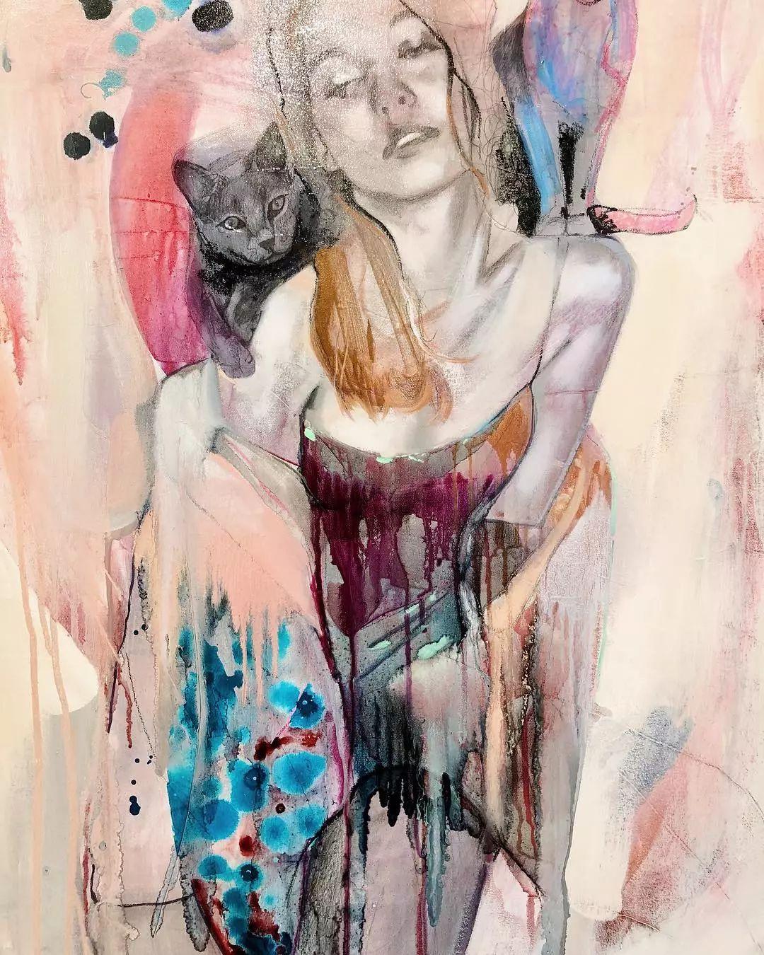 她没上过美院,画作却被世界各地的收藏家争相收藏,16岁卖画赚100万插图43