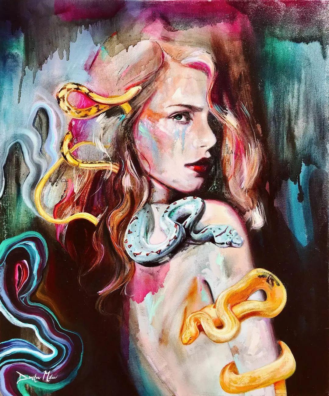 她没上过美院,画作却被世界各地的收藏家争相收藏,16岁卖画赚100万插图46
