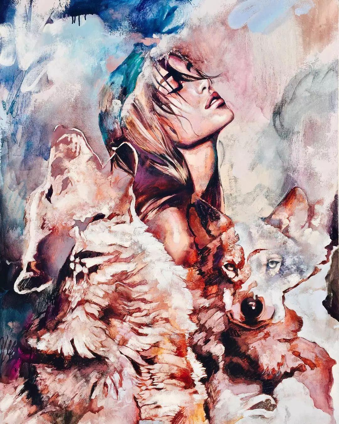 她没上过美院,画作却被世界各地的收藏家争相收藏,16岁卖画赚100万插图47
