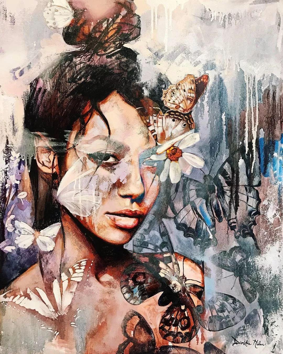 她没上过美院,画作却被世界各地的收藏家争相收藏,16岁卖画赚100万插图49
