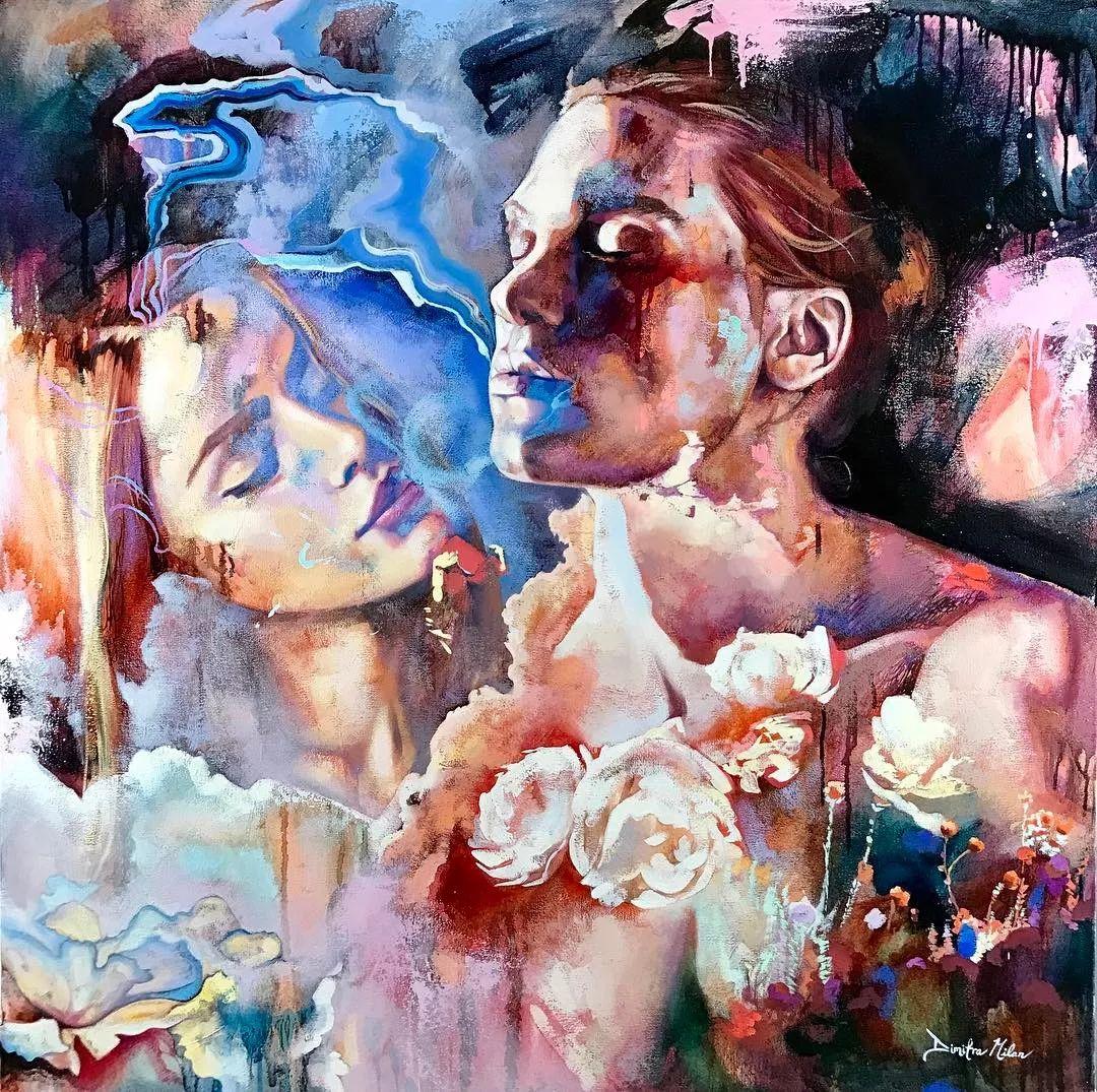 她没上过美院,画作却被世界各地的收藏家争相收藏,16岁卖画赚100万插图51