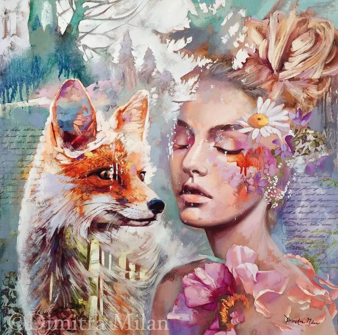 她没上过美院,画作却被世界各地的收藏家争相收藏,16岁卖画赚100万插图54