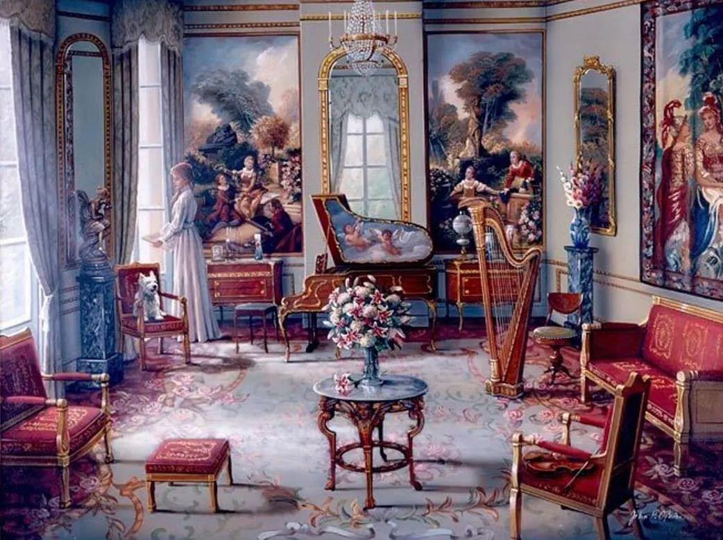 室内场景,美国艺术家John Patrick O'Brien作品选插图
