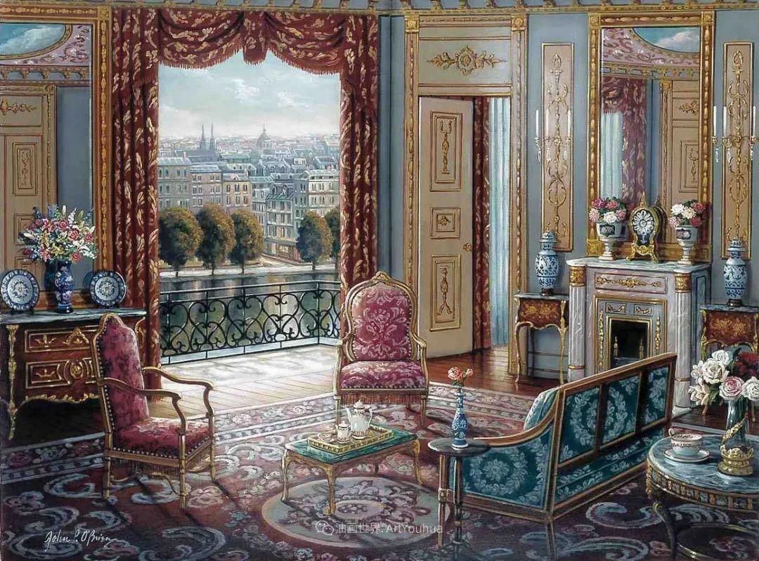 室内场景,美国艺术家John Patrick O'Brien作品选插图2