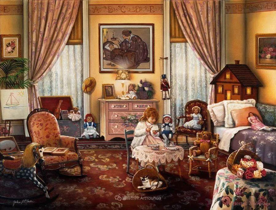 室内场景,美国艺术家John Patrick O'Brien作品选插图3