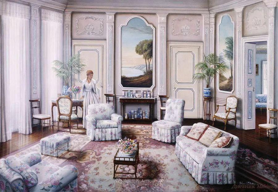 室内场景,美国艺术家John Patrick O'Brien作品选插图10