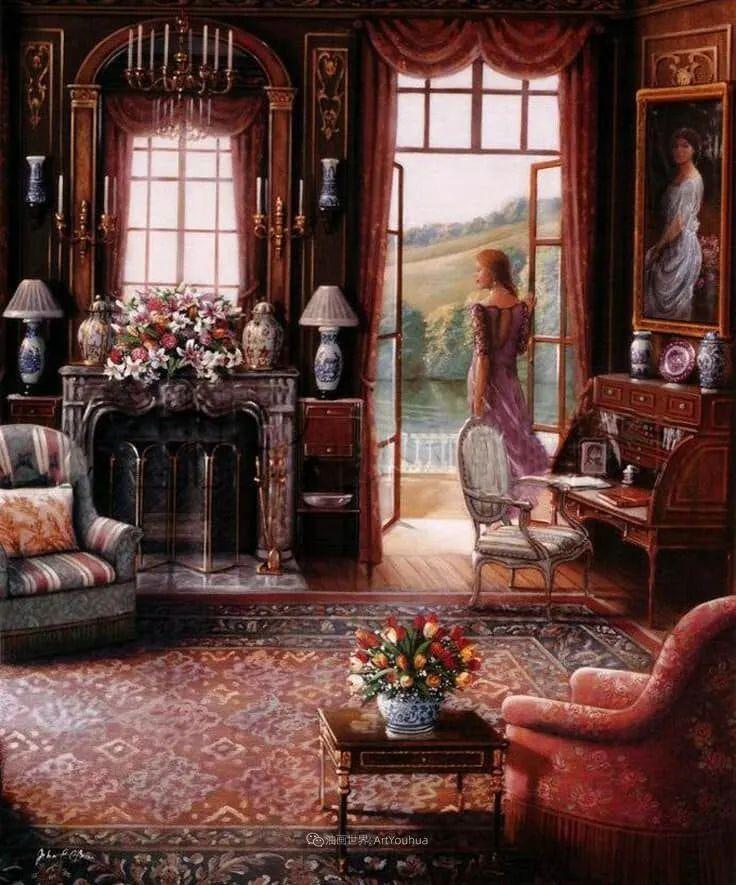 室内场景,美国艺术家John Patrick O'Brien作品选插图13