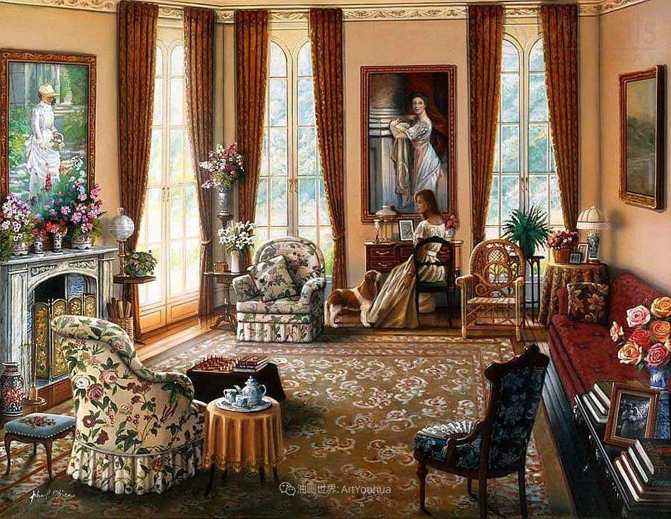 室内场景,美国艺术家John Patrick O'Brien作品选插图14