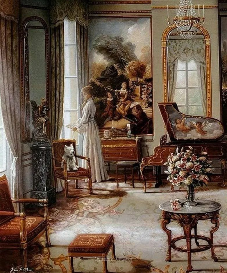 室内场景,美国艺术家John Patrick O'Brien作品选插图18