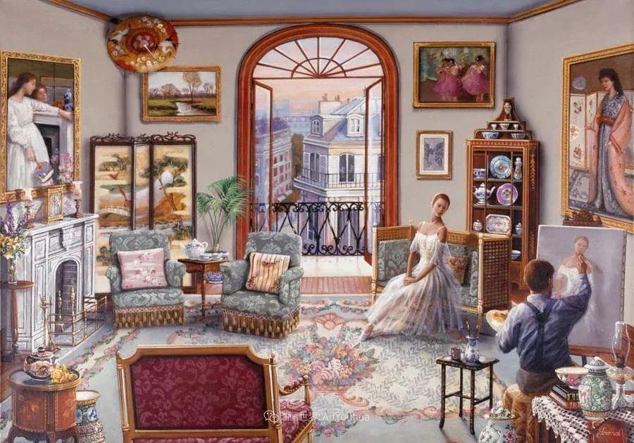 室内场景,美国艺术家John Patrick O'Brien作品选插图19