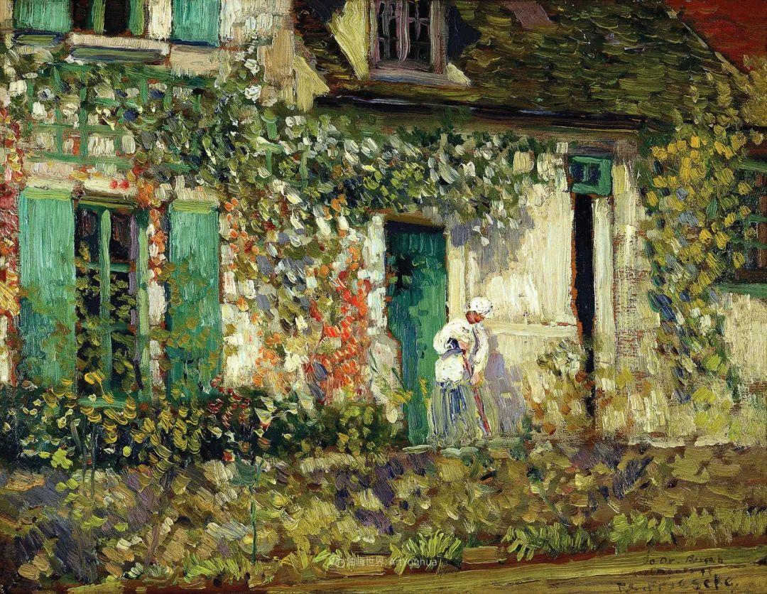 风景花卉,美国印象派画家Frederick Carl Frieseke作品选插图9