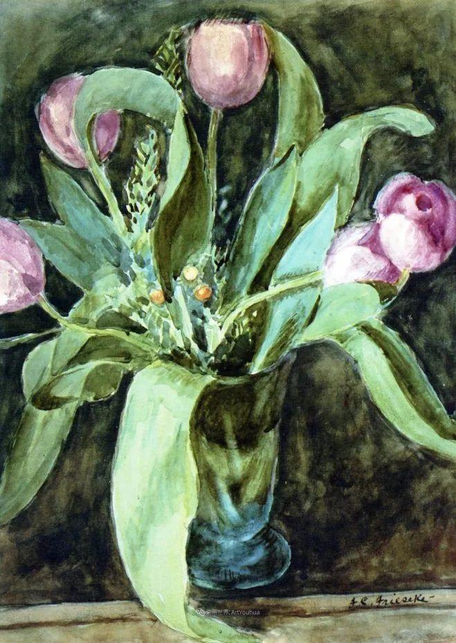 风景花卉,美国印象派画家Frederick Carl Frieseke作品选插图14