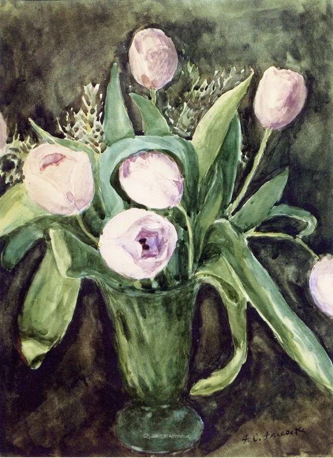风景花卉,美国印象派画家Frederick Carl Frieseke作品选插图15