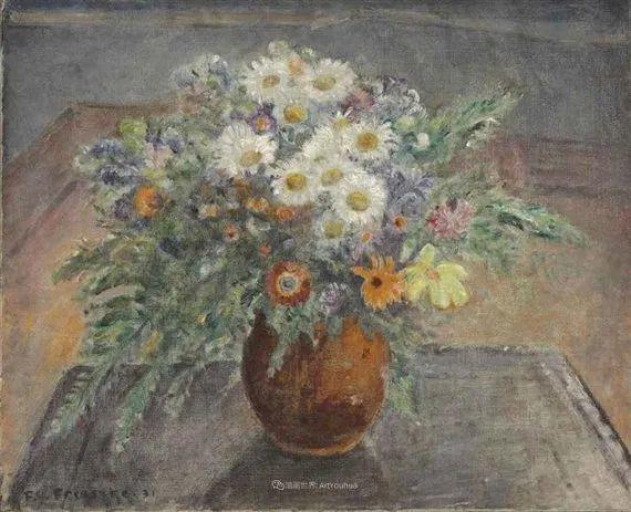 风景花卉,美国印象派画家Frederick Carl Frieseke作品选插图16