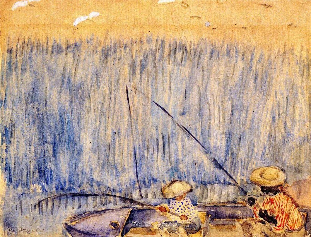 风景花卉,美国印象派画家Frederick Carl Frieseke作品选插图24