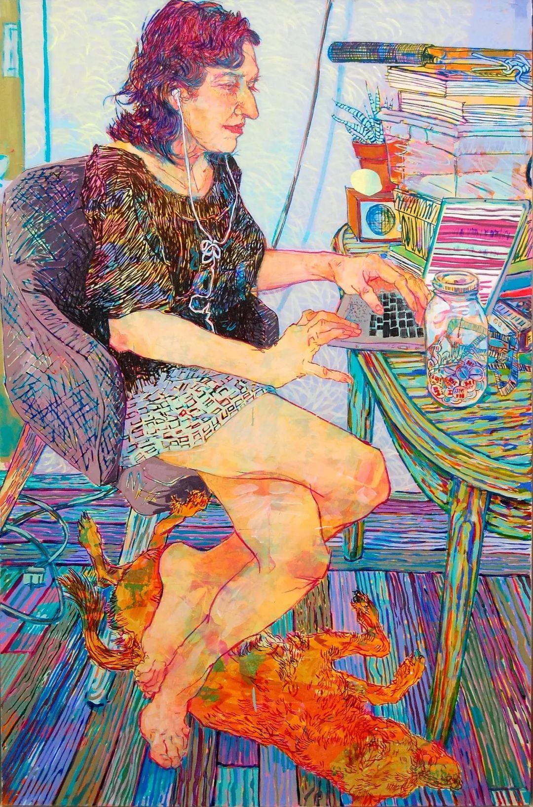 用平静的笔触描绘强烈的感情,美国艺术家Hope Gangloff作品选插图1