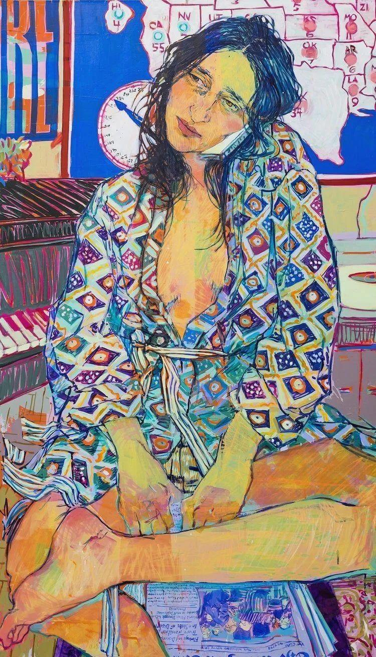 用平静的笔触描绘强烈的感情,美国艺术家Hope Gangloff作品选插图5
