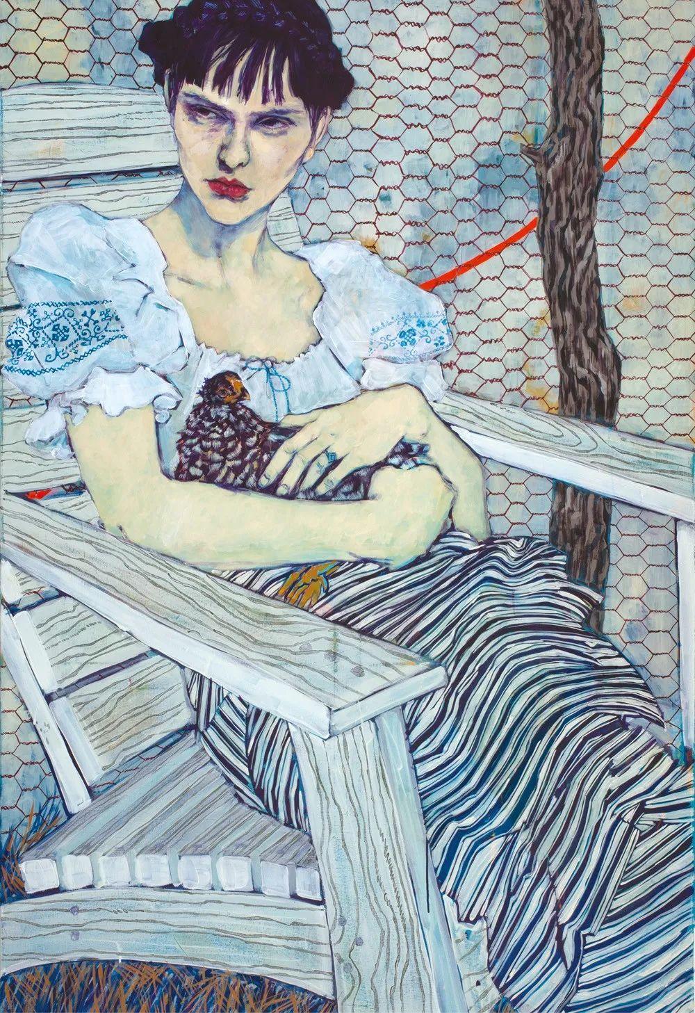 用平静的笔触描绘强烈的感情,美国艺术家Hope Gangloff作品选插图19