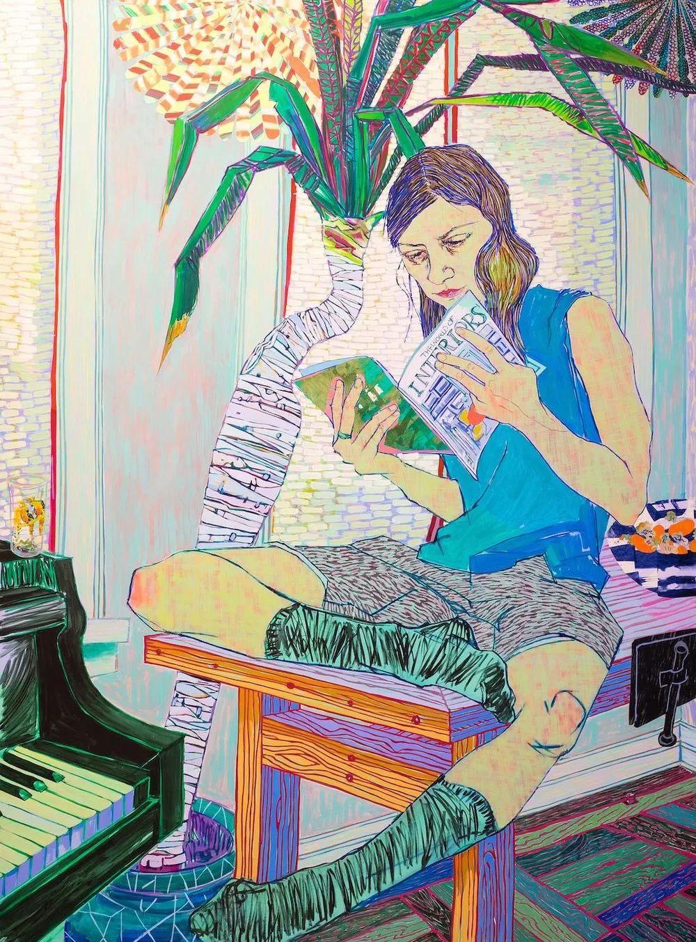 用平静的笔触描绘强烈的感情,美国艺术家Hope Gangloff作品选插图25