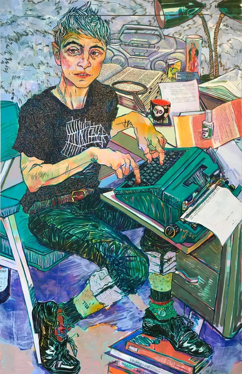 用平静的笔触描绘强烈的感情,美国艺术家Hope Gangloff作品选插图33