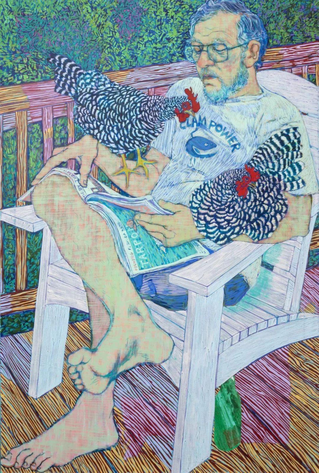 用平静的笔触描绘强烈的感情,美国艺术家Hope Gangloff作品选插图35