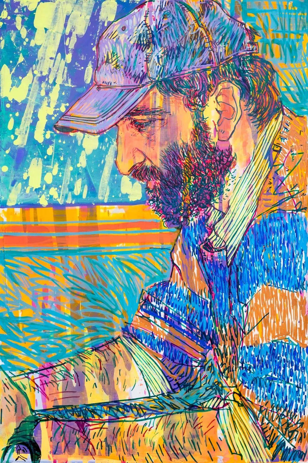 用平静的笔触描绘强烈的感情,美国艺术家Hope Gangloff作品选插图41