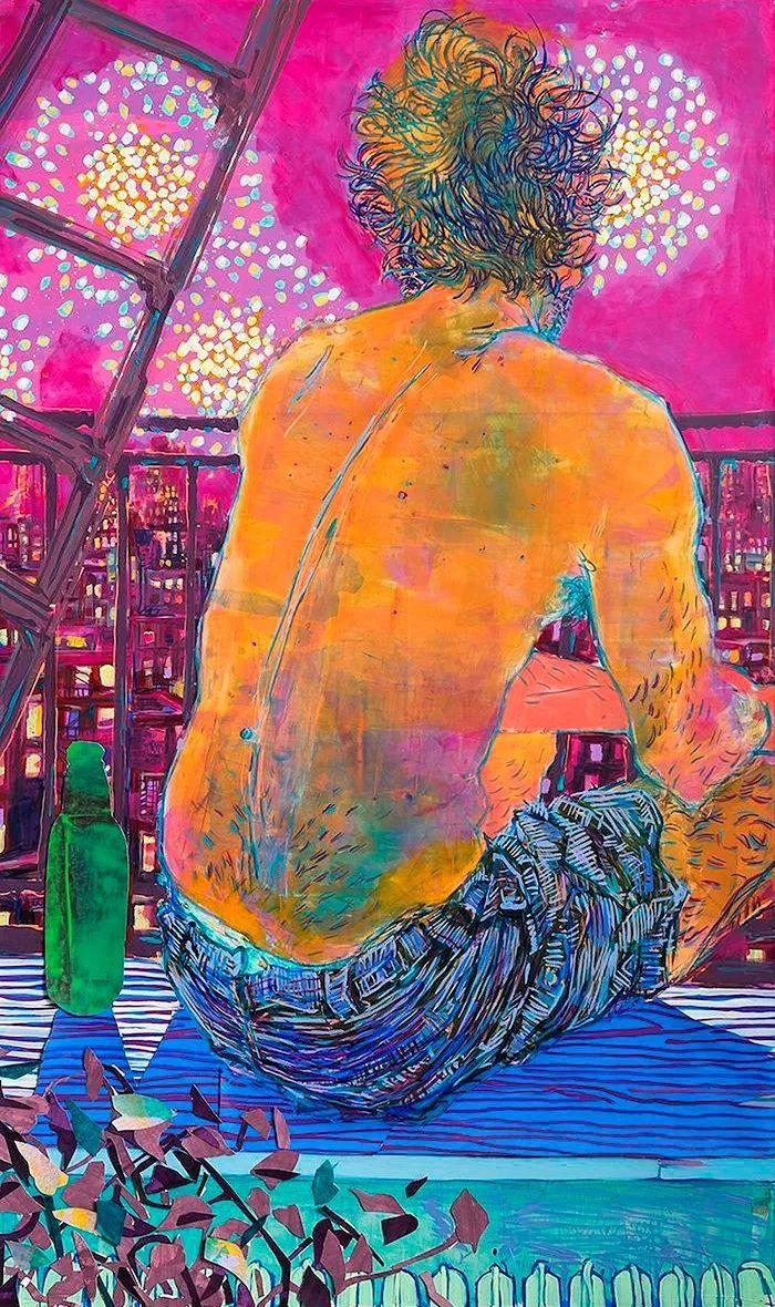 用平静的笔触描绘强烈的感情,美国艺术家Hope Gangloff作品选插图47
