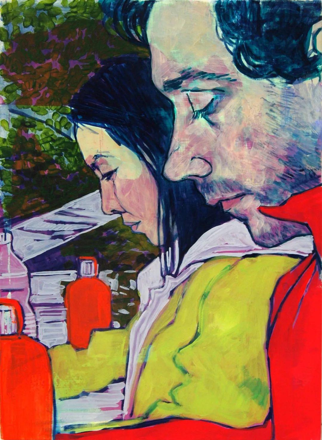 用平静的笔触描绘强烈的感情,美国艺术家Hope Gangloff作品选插图51