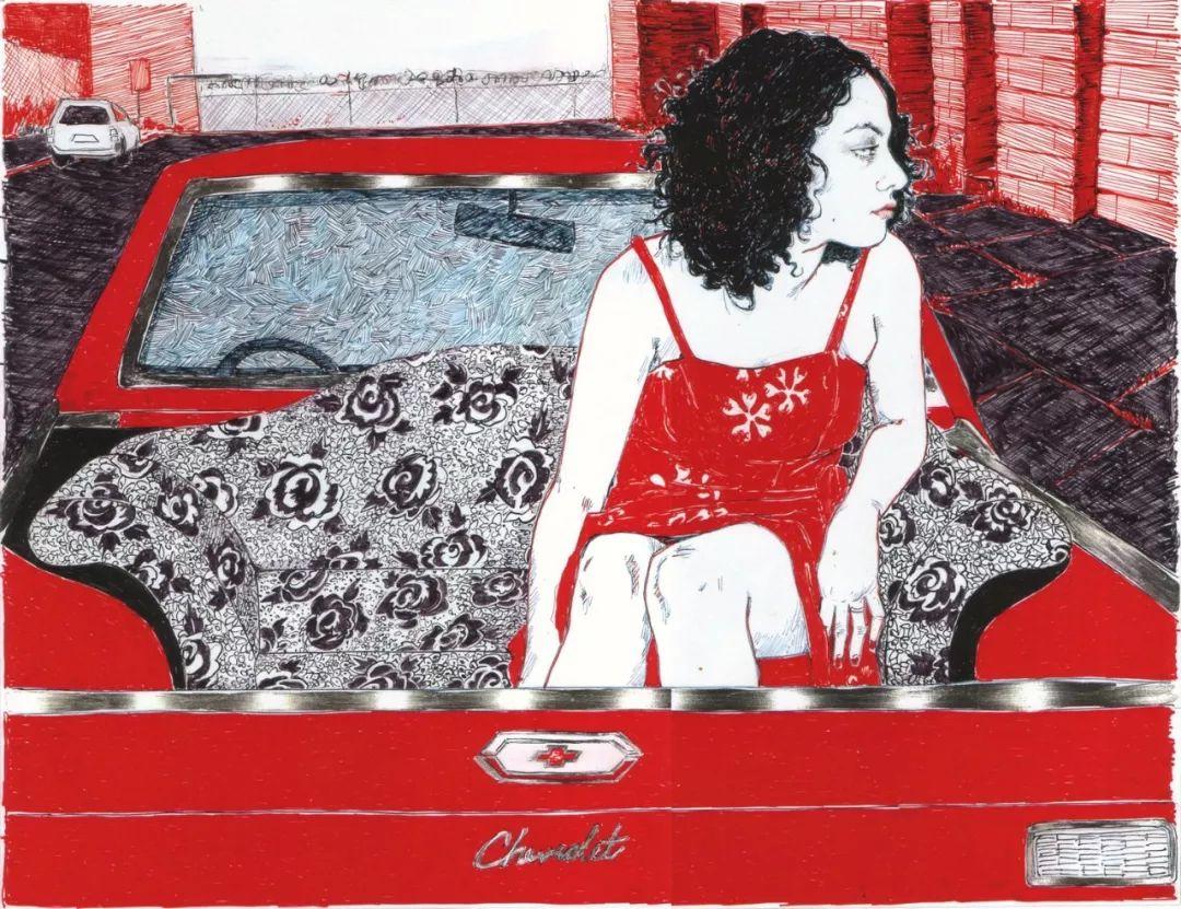 用平静的笔触描绘强烈的感情,美国艺术家Hope Gangloff作品选插图73