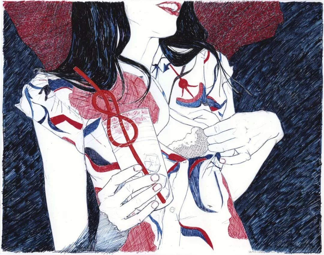 用平静的笔触描绘强烈的感情,美国艺术家Hope Gangloff作品选插图75