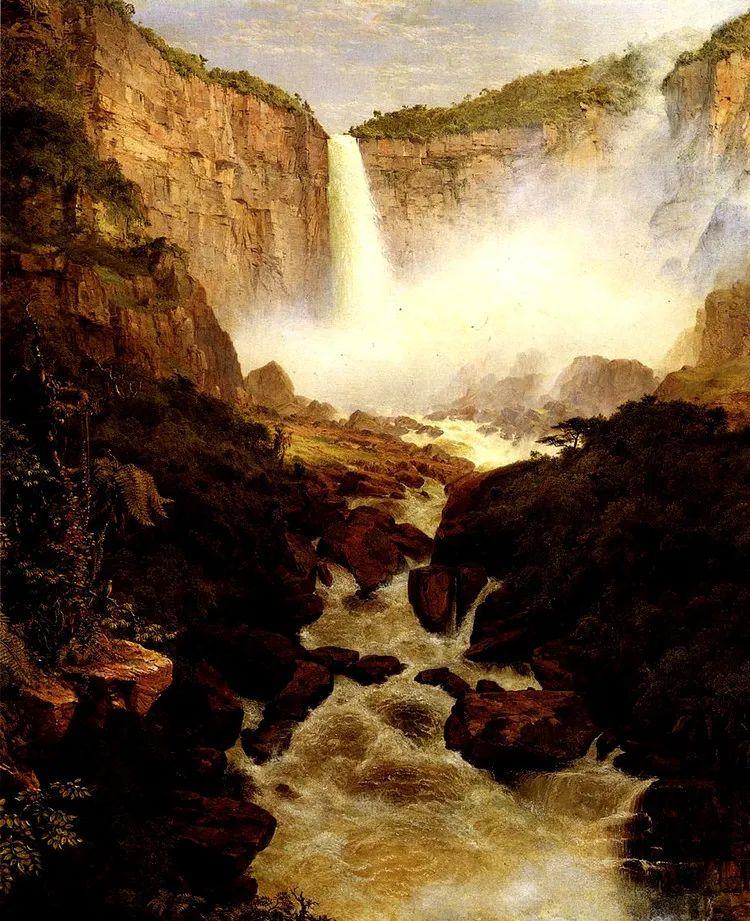 以浪漫光色效果,表达让人崇敬的神奇自然!美国画家Frederic Edwin Church插图1