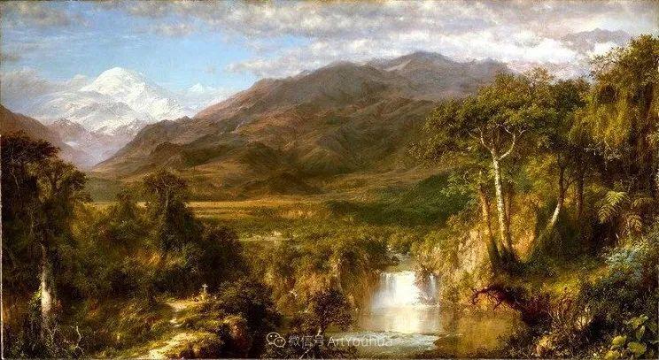 以浪漫光色效果,表达让人崇敬的神奇自然!美国画家Frederic Edwin Church插图5