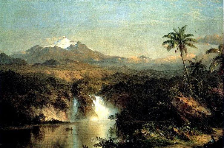 以浪漫光色效果,表达让人崇敬的神奇自然!美国画家Frederic Edwin Church插图7