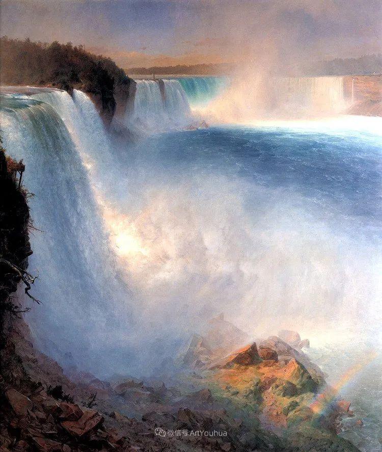 以浪漫光色效果,表达让人崇敬的神奇自然!美国画家Frederic Edwin Church插图9